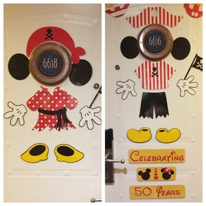Mickey And Minnie Mouse Pirate Body Part Stateroom Door