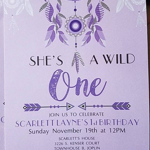 Wild one invitation wild one birthday party wild one invite buyer photo catie green who reviewed this item with the etsy app for android stopboris Choice Image