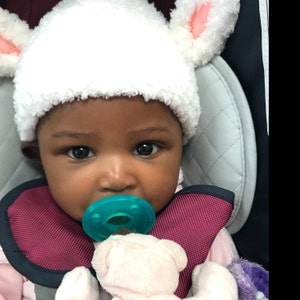 Baby Lamb Hat Fluffy Baby Lamb Beanie Lamb baby hat