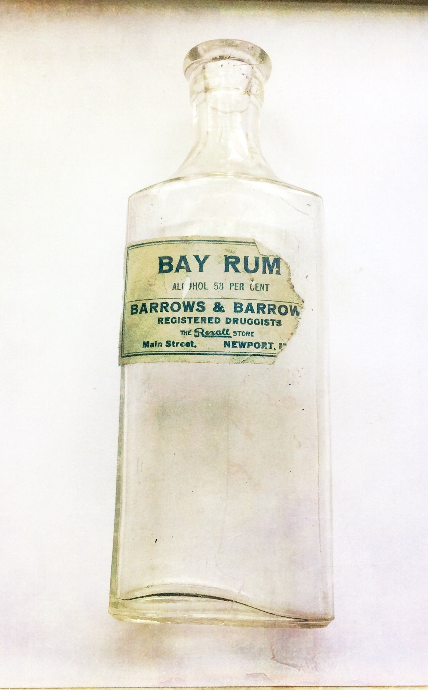 Newport Maine druggist bottle