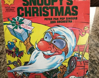 """Children's Record Peter Pan Records """"Snoopy's Christmas"""" - Free Shipping"""