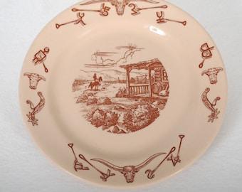 Shenango Restaurant Ware Vintage Plate in El Rancho Pattern