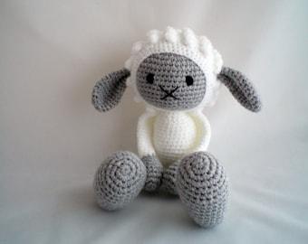Crochet Sheep / Amigurumi Sheep / Crochet Amigurumi Soft Toy / Crochet Lamb Plush Soft Toy / Sheep Plush Toy / Crochet Lamb Plush with Grey