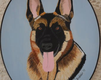 Example of a 8X10 inch custom portrait