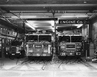 Firemen station, New York, Manhattan, USA