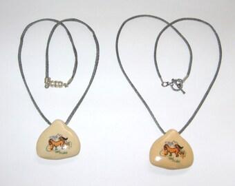 KIDS Porcelain Hand-painted Monkey Pendant Necklaces, Your Choice