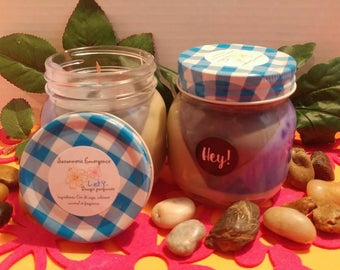 Scented or massage candle