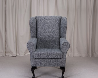 Westoe Armchair in a Como Charcoal Fabric - Como Charcoal