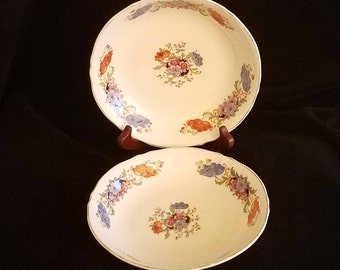 Knowles, Taylor & K Dutchess Coupe Bowls, Pattern Discontinued Circa 1918, Set of 2 Free Shipping