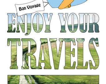 Bon Voyage Card - Enjoy Your Travels