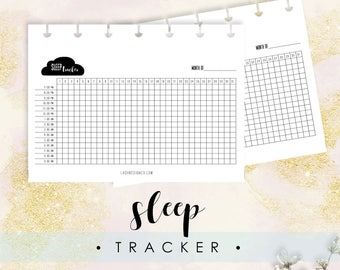 Sleep Tracker, Fits Happy Planner Classic, Printable, Instant Download, Track Your Sleep, Bullet Journal, Gift for Her