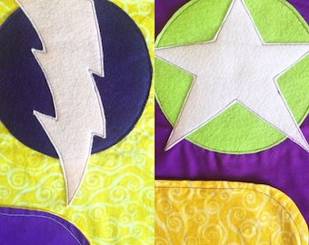 Reversible Superhero cape for Halloween, dressup or pretend play