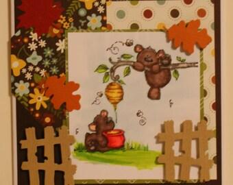 Honey Bear 3 Greeting Card