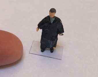 Tell it to the Judge HO Scale Judge in black  Robe Perfect for Planter or Terrariums model train scene