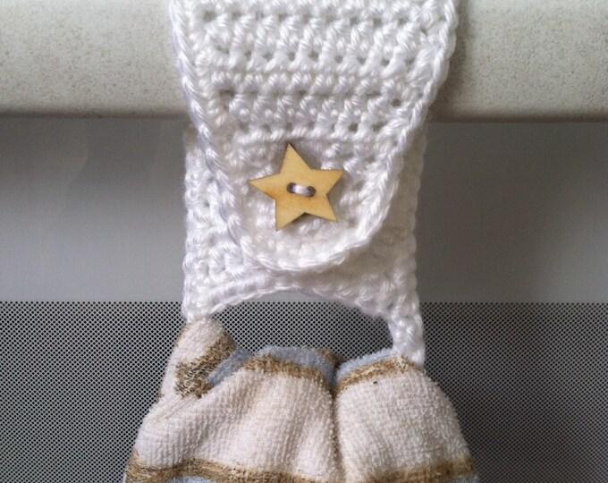 Towel Holder / Towel Ring / Kitchen Towel Holder / Crochet Towel Holder