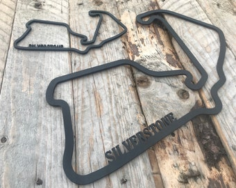 Exclusive Silverstone Track F1 Grand Prix Wooden Wall Art