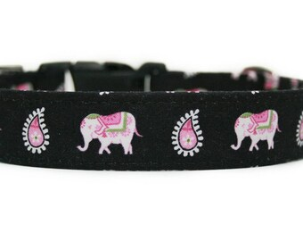 Elephants Dog Collar / Martingale Dog Collar / Custom Dog Collar/ Spring Dog Collar