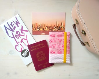 Passport holder, document case, passport case, Fabric case, travel document holder, passport cover