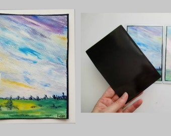 Magnet magnetic card hand painted original painting, fridge magnet