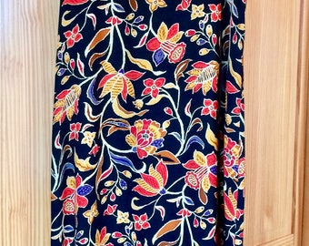 Vintage, 90's, Rayon Floral Maxi Dress , Vintage Boho Maxi Dress- Size Medium