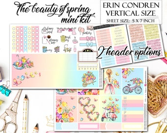 The beauty of spring planner stickers/Planner stickers for Erin Condren Lifeplanner/Watercolor stickers/Flower Stickers/Pastel Stickers