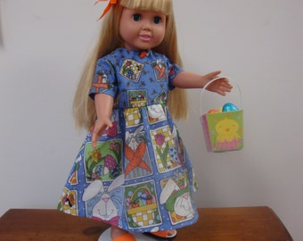 American Girl Easter Dress w/ Shoes, Hair Clip & Easter Basket w/ Eggs