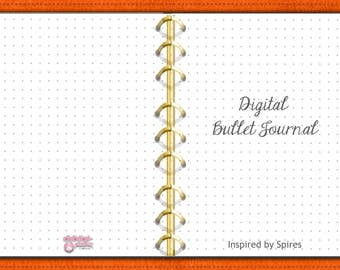 Digital Bullet Journal, Orange (Dots)