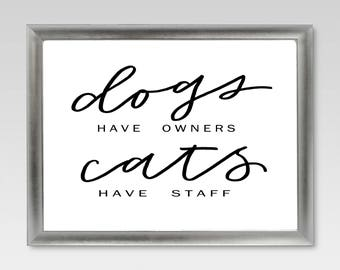 Dogs vs Cats - Download & Print Decor
