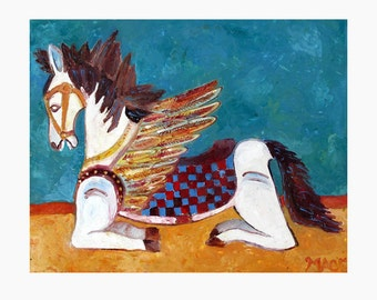 fine art photograph print Encaustic Winged Horse Balinese