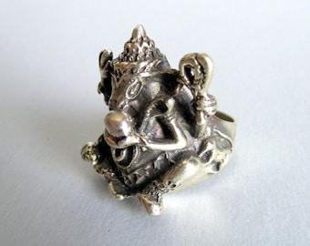 Ganesh Ring.Silver India ring.