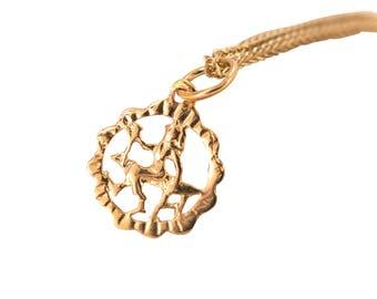 Gold Virgo Necklace - Virgo Necklace - Gold Virgo Pendant - Gold Zodiac Necklace - Gold Zodiac Pendant - Virgo Jewelry - Zodiac Jewelry
