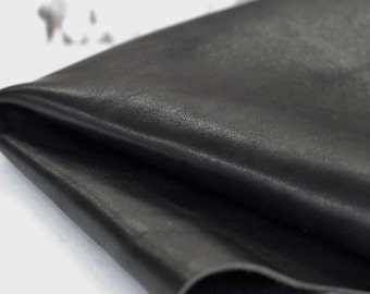 SALE Black  Genuine Leather , Soft  Leather, Cowhide