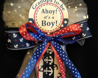 Grandpa To Be  1  Nautical Ocean Sailor Theme Baby shower corsage