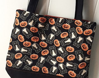 Owl & Pumpkin Bag - Snap Closure Purse