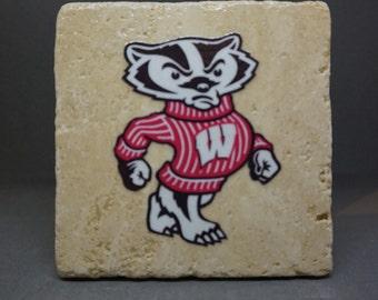 University of Wisconsin-Madison (Bucky) Coaster (4-Pack)