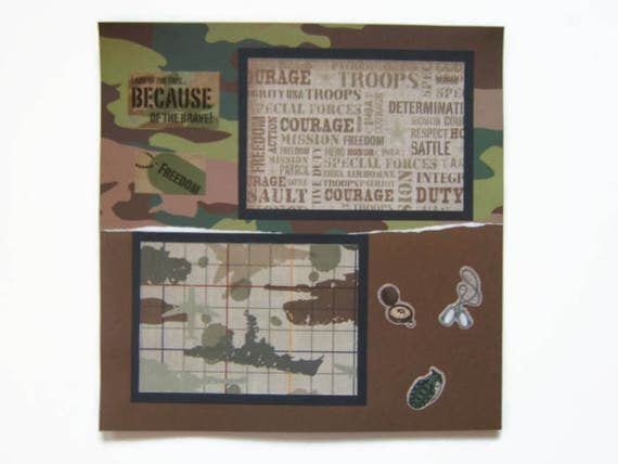 Army Scrapbook Pages Army Layout Military Pages Military