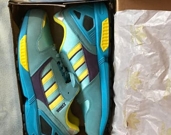 Adidas ZX 8000 , US 7 , yELLOW pURPLE torsion vintage  new footwear