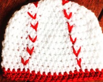 Newborn baby baseball toboggan hat