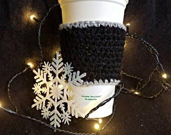Black Coffee Cup Cozy