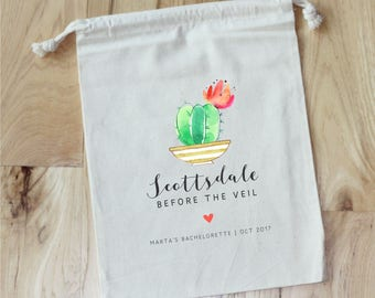Scottsdale Before The Veil  - Personalized Favor Bags - Set of 10 - Bachelorette Party - Survival Kit - Wedding Shower