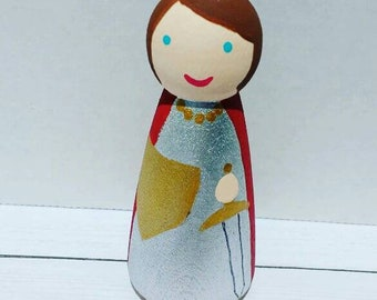 St. Joan of Arc Peg Doll