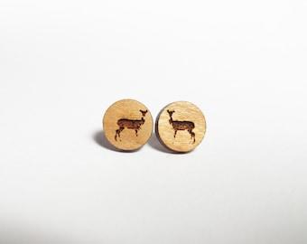 Deer Post Earrings