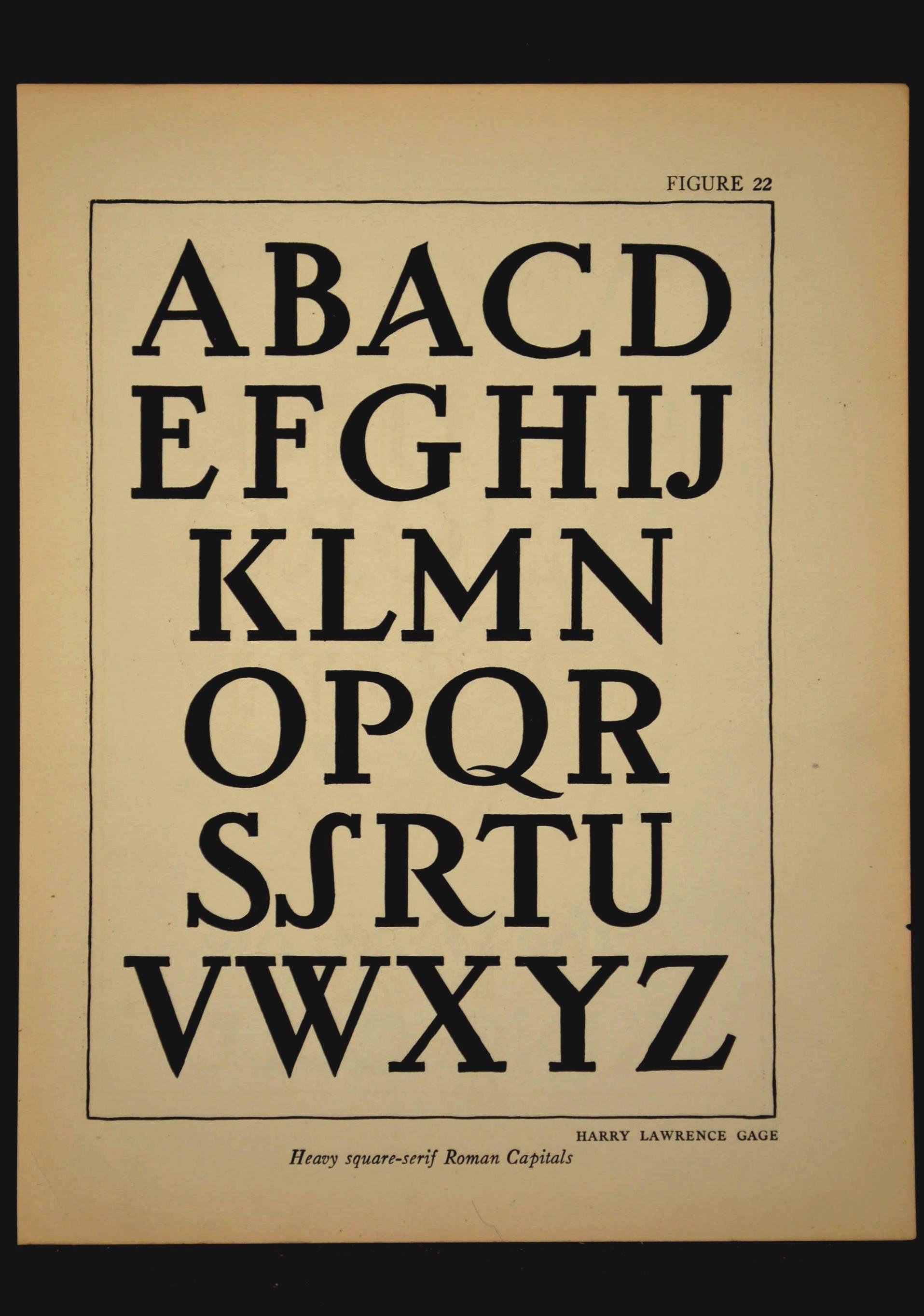 Lettering Print Roman Letters Ephemera Lettering Wall Art