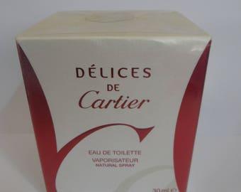 Delices De Cartier Eau De Toilette for women 30ml rare discontinued