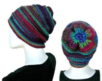 Easy Beanie Pattern, Crochet Hat Pattern, Easy Crochet Patterns, Crochet Beanie Hat Pattern, Slouchy Hat Pattern