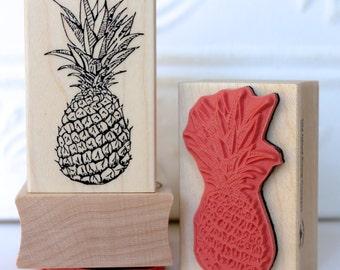 Pineapple fruit rubber stamp from oldislandstamps