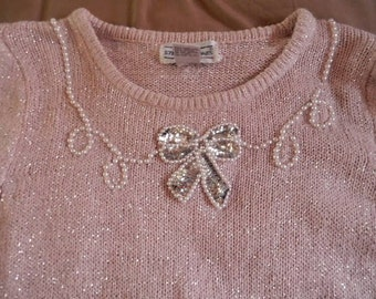 silk,angora vintage sweater