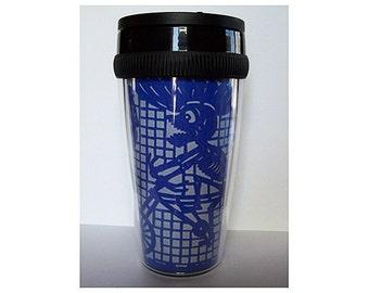 Day of the Dead travel mug retro Mexico dia de los muertos coffee cup kitsch