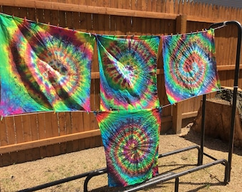 Rainbow burst spiral Bandana