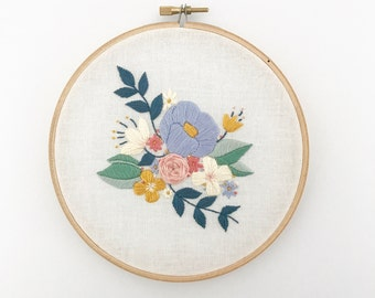 FLORAL SPRAY,  PDF Embroidery Pattern, Digital Download, Floral Embroidery Pattern, Floral Needlework